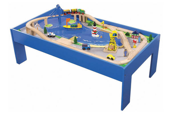 96002 60pcs ocean train set with table